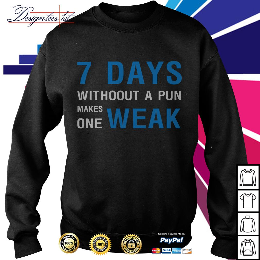 7 days without a pun makes one weak Sweater