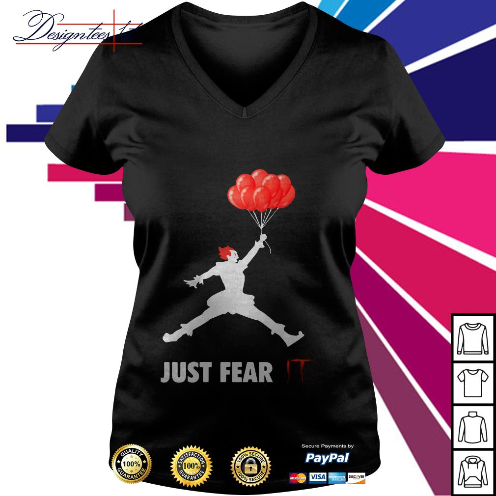 Air Jordan Pennywise just fear IT V-neck T-shirt