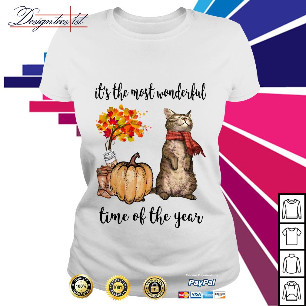 Cat it's the most wonderful time of the year Ladies Tee
