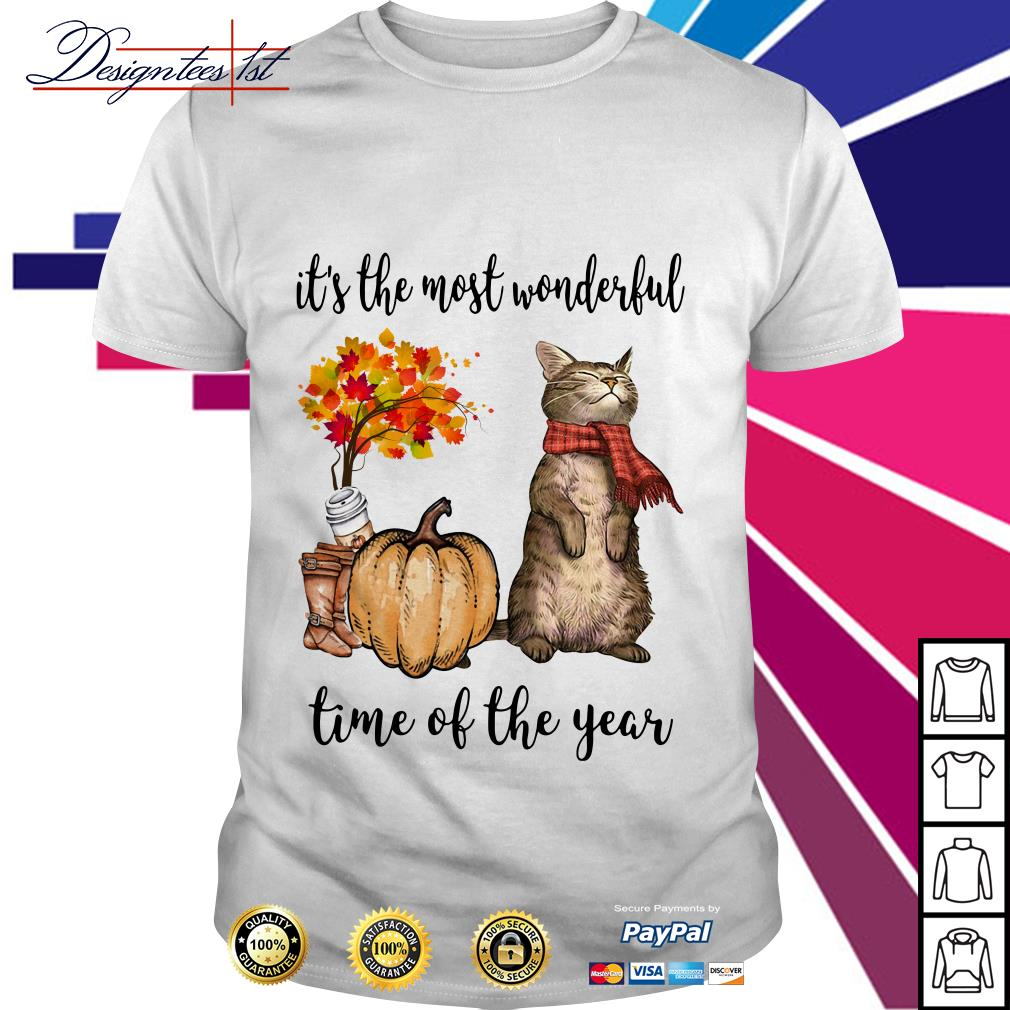Cat it's the most wonderful time of the year shirt