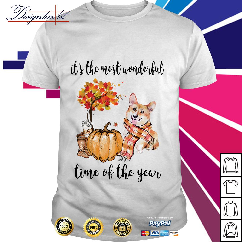 Corgi it's the most wonderful time of the year shirt