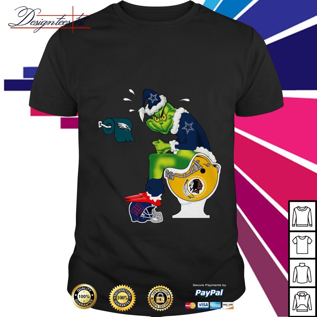 Dallas Cowboys Santa Grinch toilet Shirt