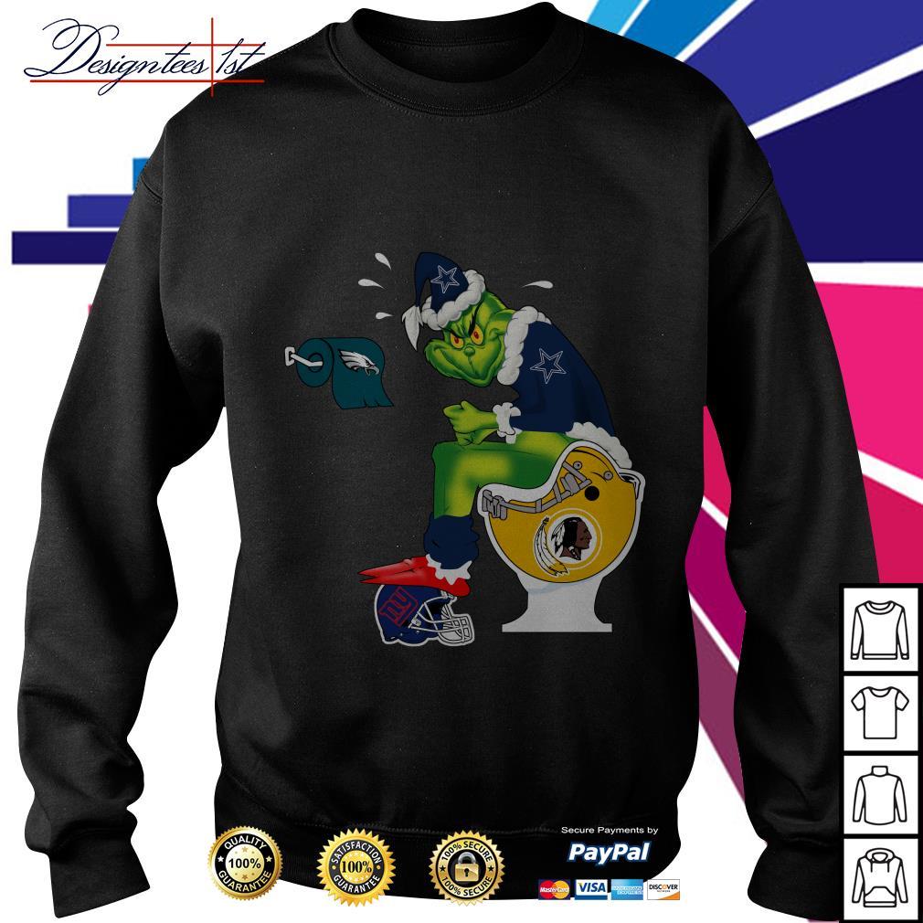 Dallas Cowboys Santa Grinch toilet sweater