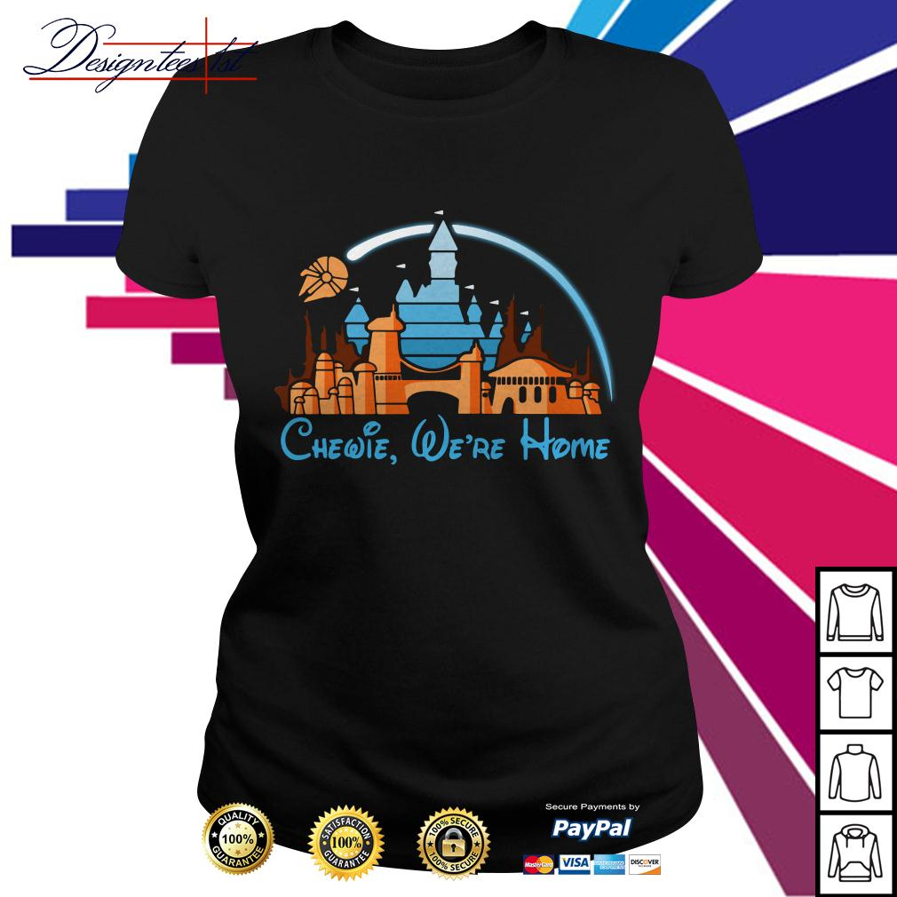 Disney Star Wars Chewie we're home Ladies Tee