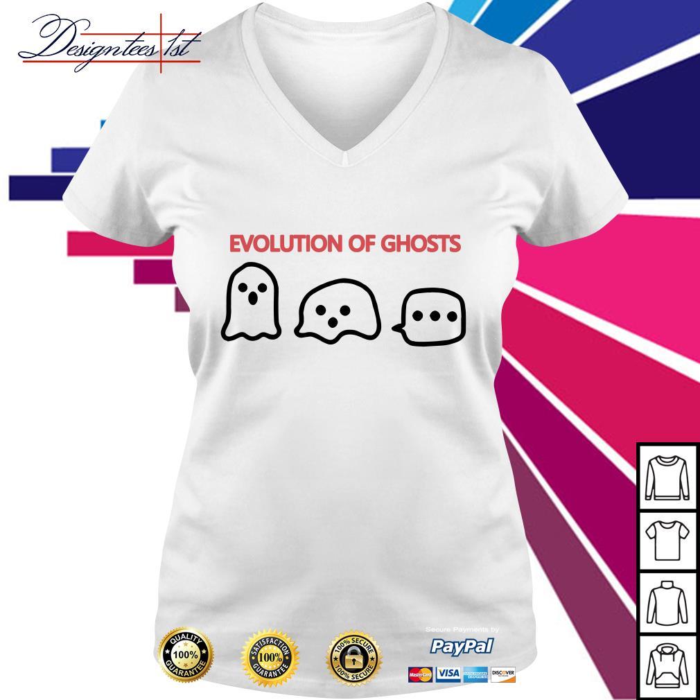 Evolution of ghosts V-neck T-shirt