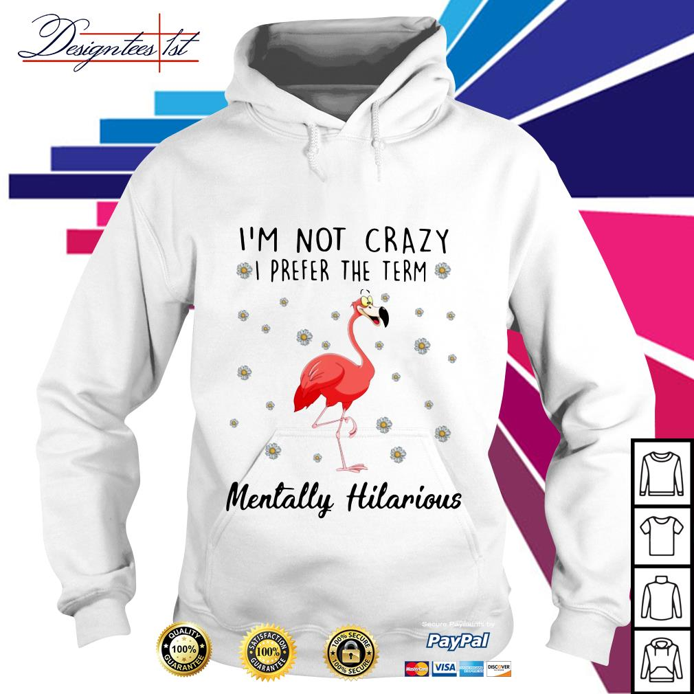Flamingo I'm not crazy I prefer the term Mentally Hilarious Hoodie