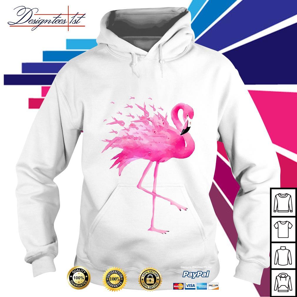 Flamingo pink ribbon breast cancer awareness Hoodie