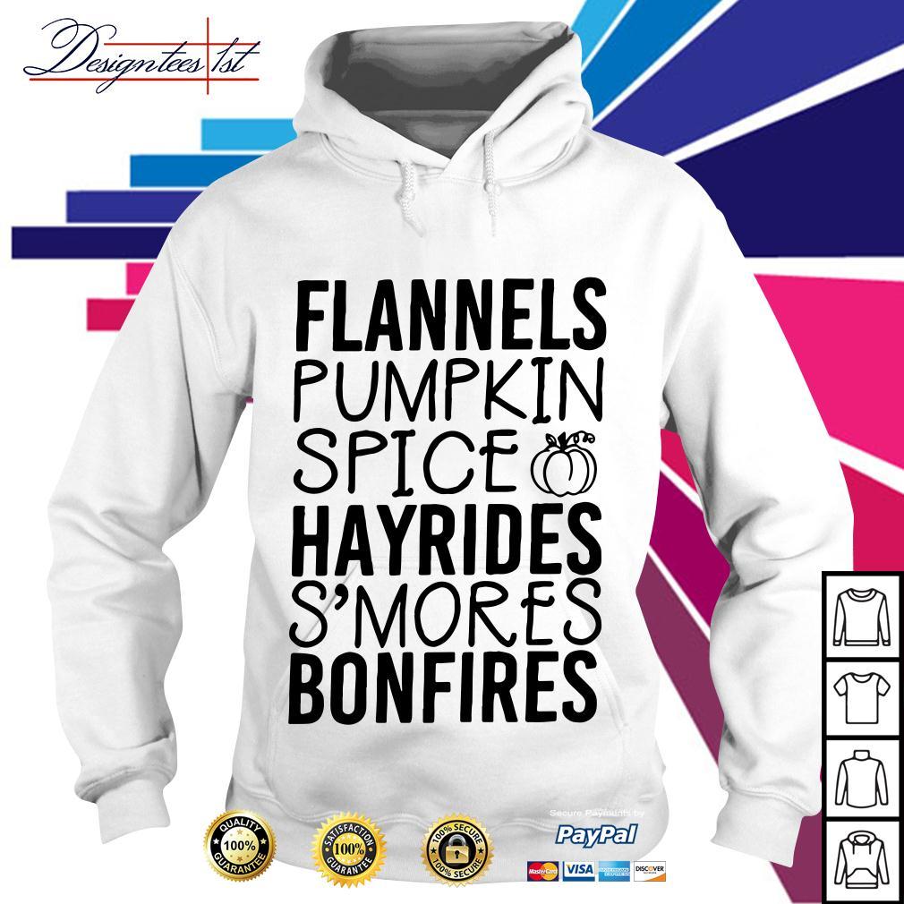 Flannels pumpkin spice hayrides s'mores bonfires Hoodie
