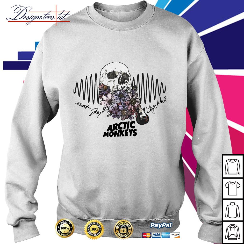 Floral skull Arctic Monkeys signature Sweater