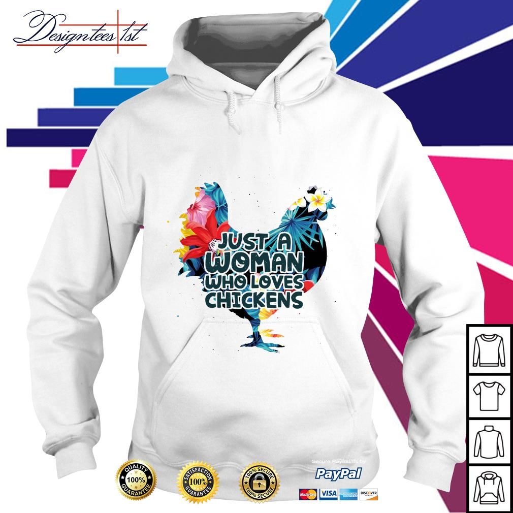 Floral woman who loves chickens Hoodie