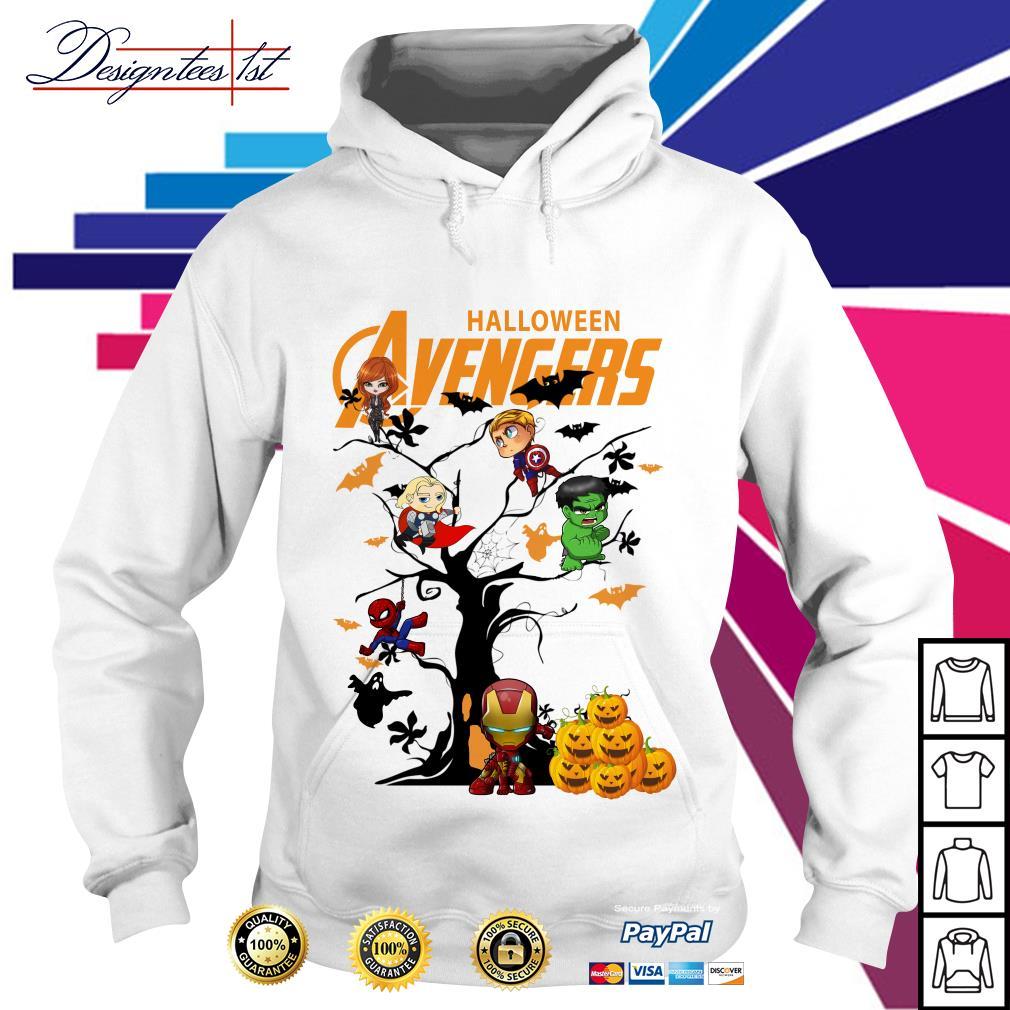 Halloween Avengers character tree Hoodie