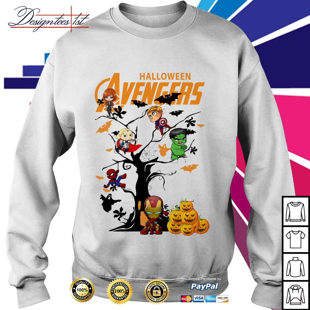 Halloween Avengers character tree Sweater