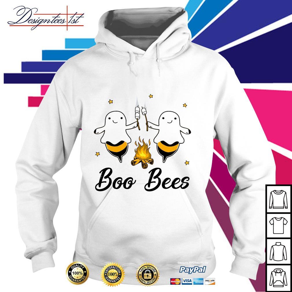 Halloween boo bees drinking wine boo crew ghost Hoodie