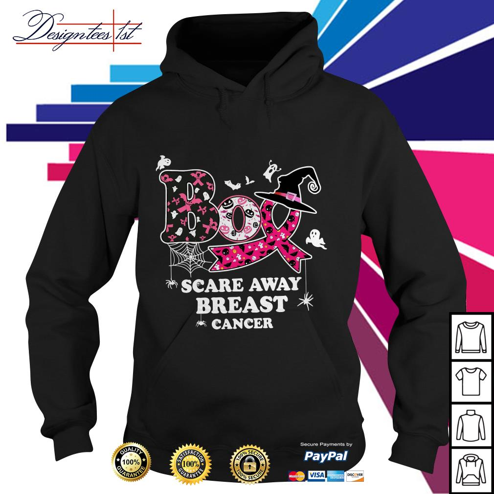 Halloween Boo scare away breast cancer Hoodie