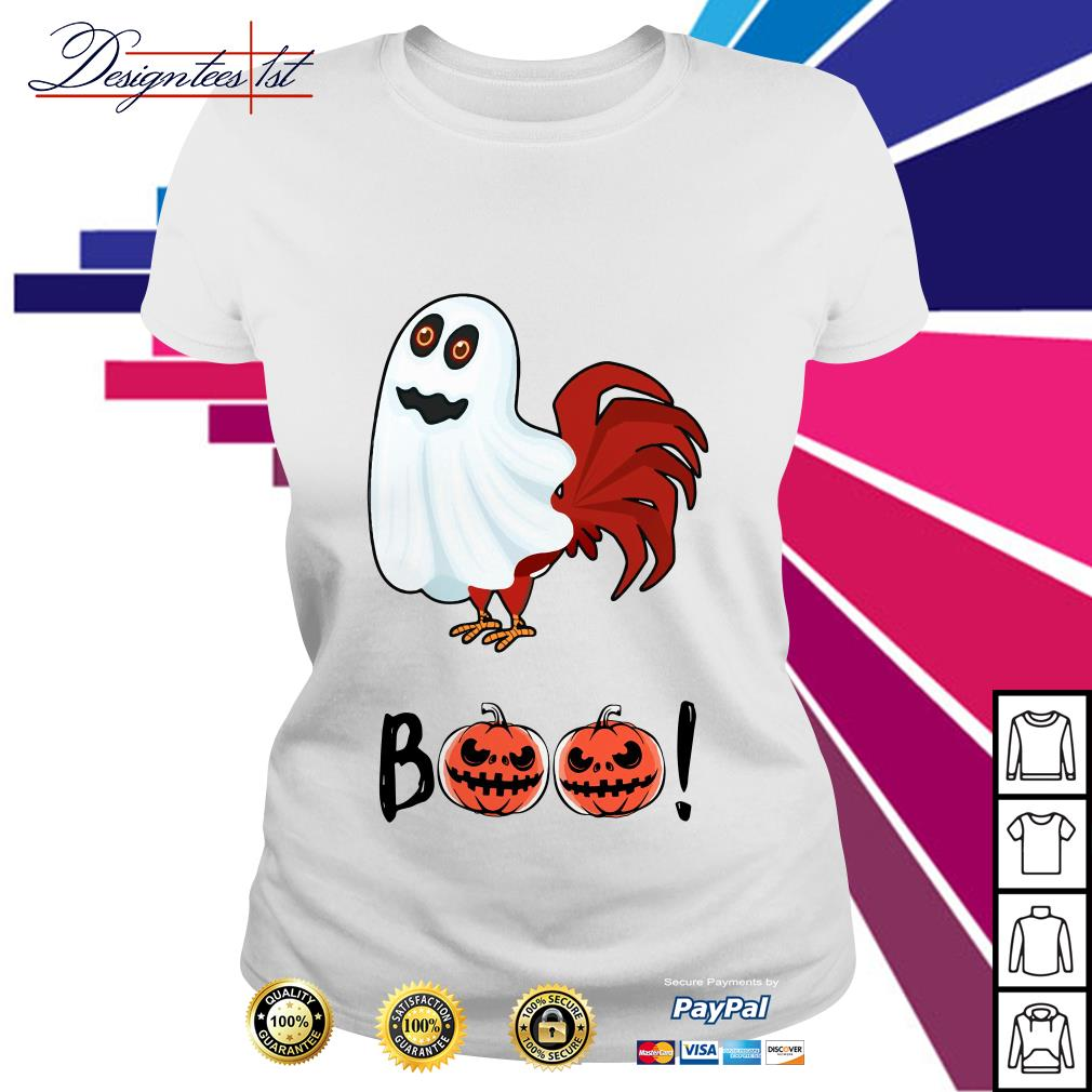 Halloween chicken ghost boo bees Ladies Tee