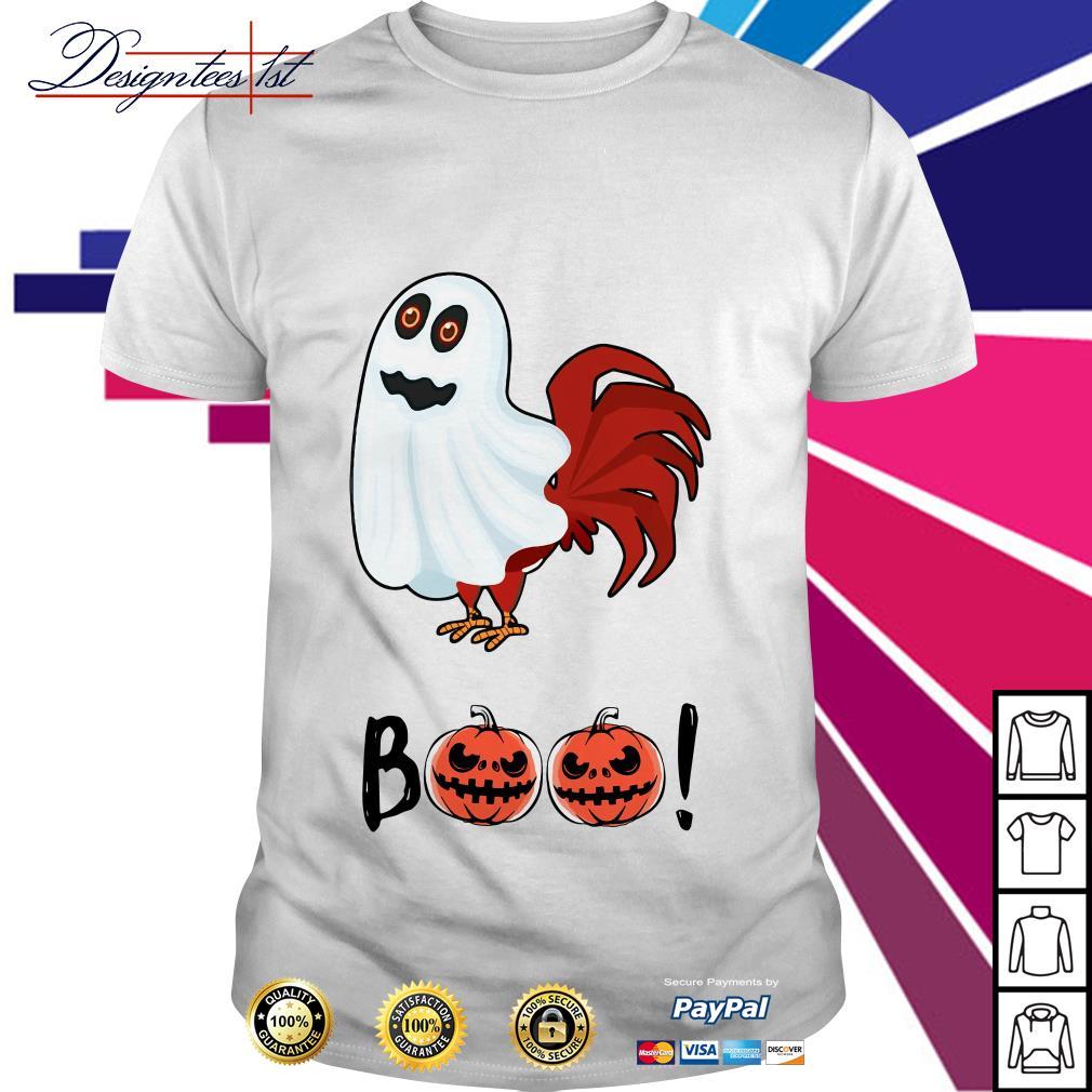 Halloween chicken ghost boo bees shirt