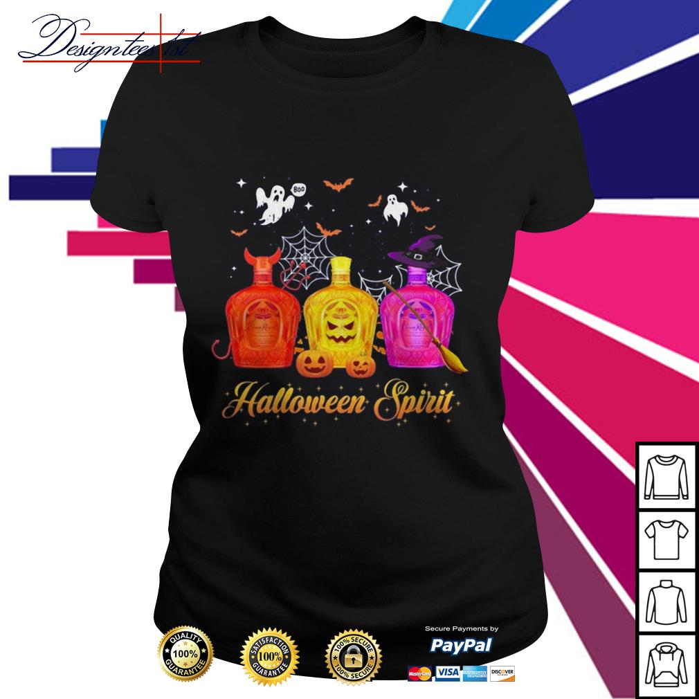 Halloween Crown Royal spirit Ladies Tee
