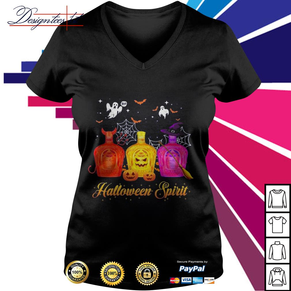 Halloween Crown Royal spirit V-neck T-shirt