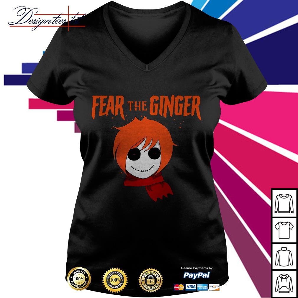 Halloween fear the ginger V-neck T-shirt