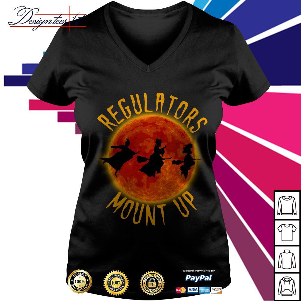 Halloween Hocus Pocus regulators mount up V-neck T-shirt