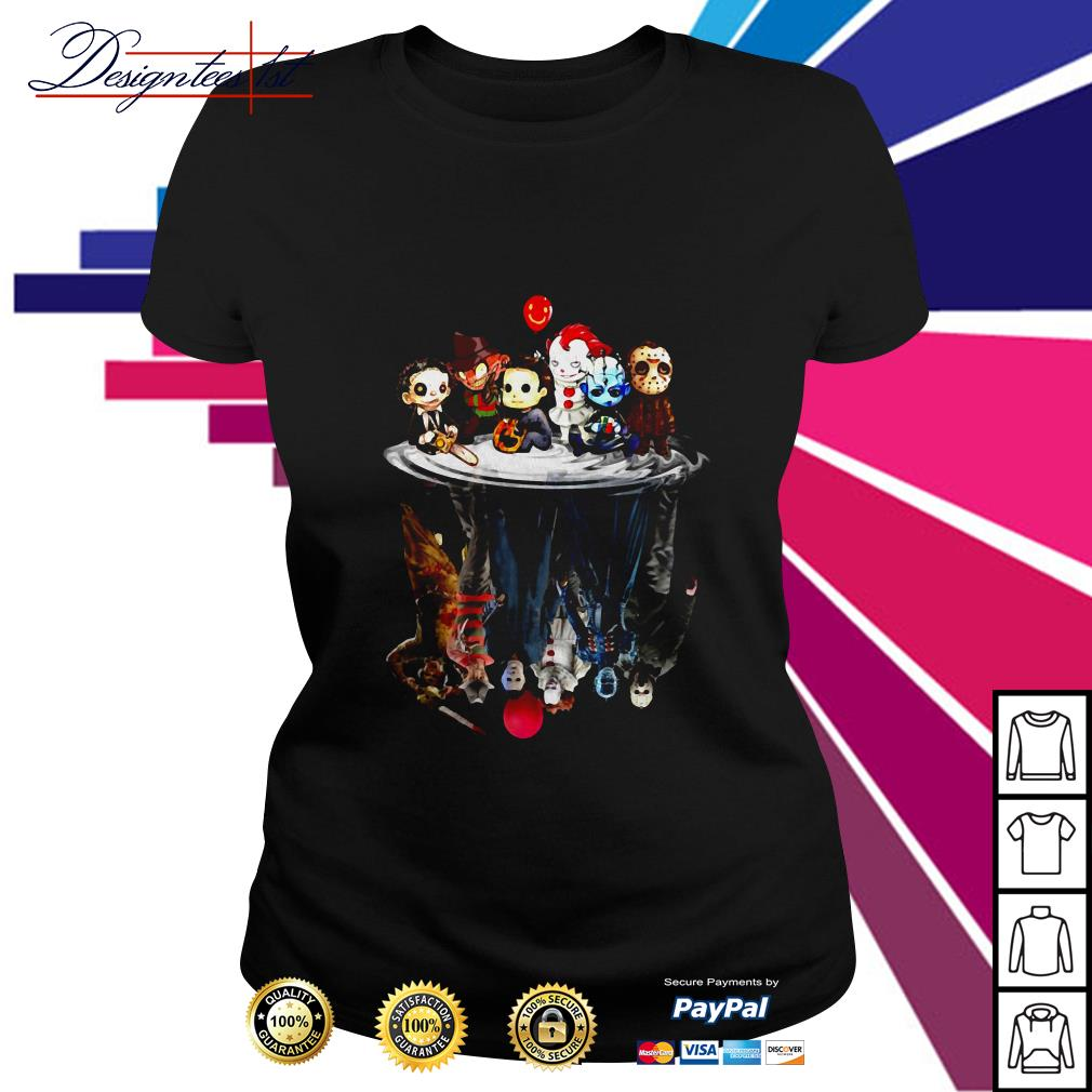 Halloween Horror chibi characters Ladies Tee