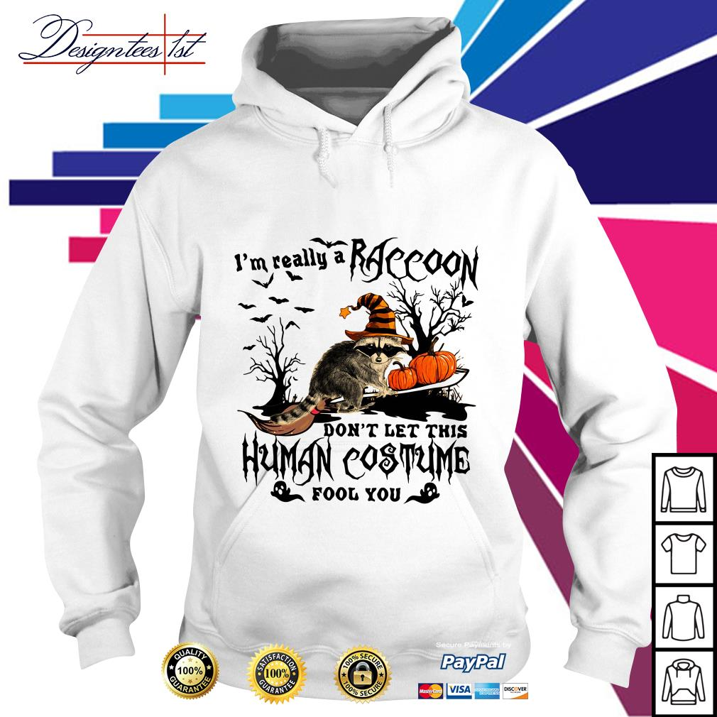 Halloween I'm really a Raccoon don't let this human costume fool you Hoodie