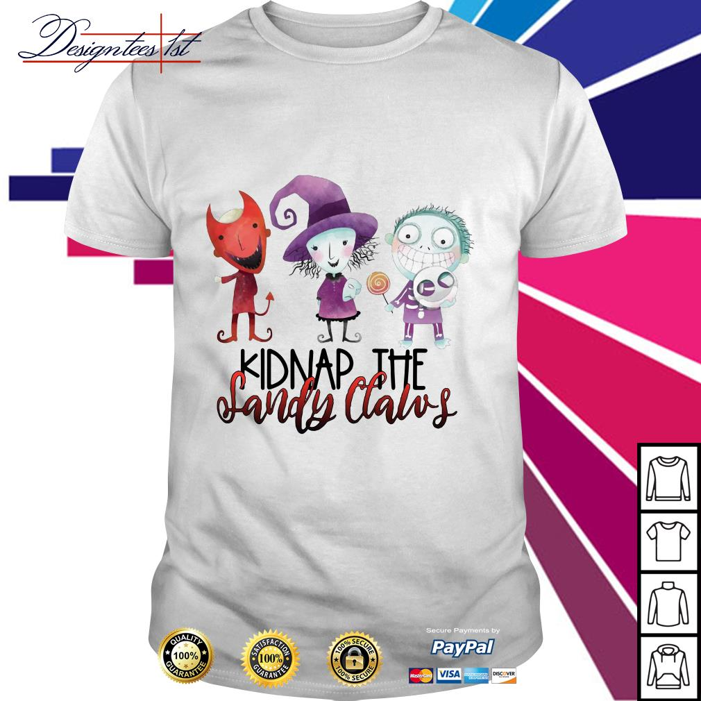 Halloween Kidnap the Sandy Claws shirt