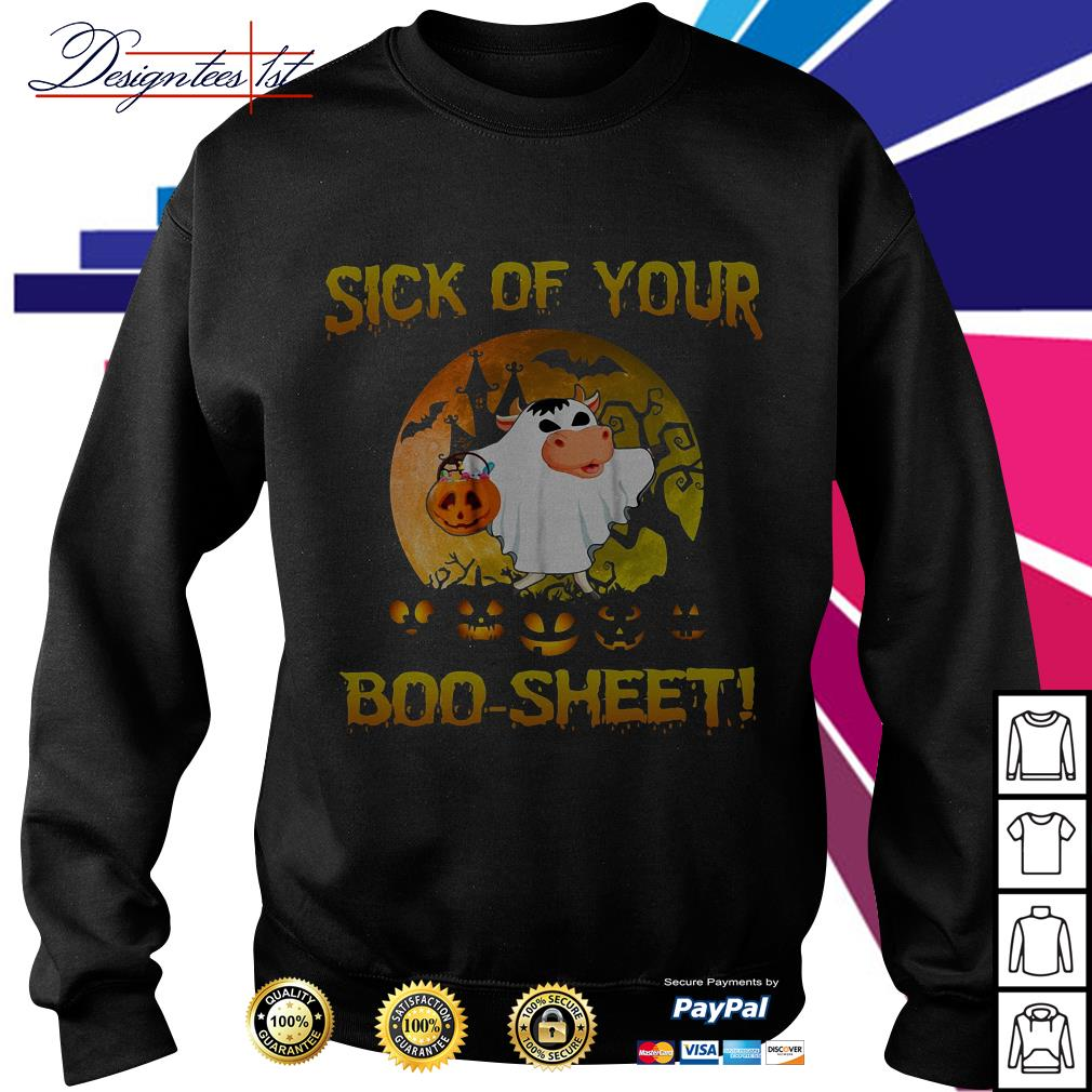 Halloween sick of your boo-sheet Sweater