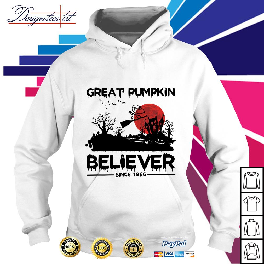 Halloween Snoopy great pumpkin believer since 1966 Hoodie