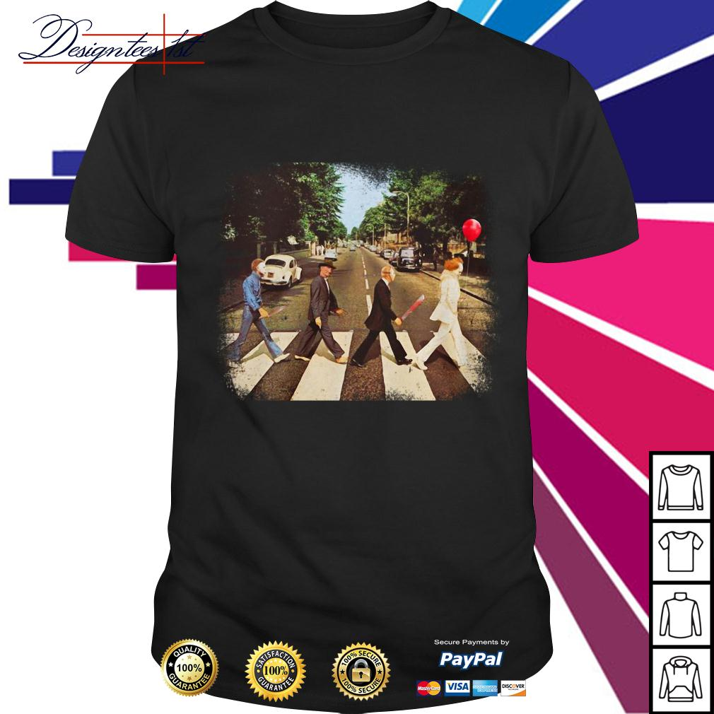 Horror movie characters walking Abbey Road shirt