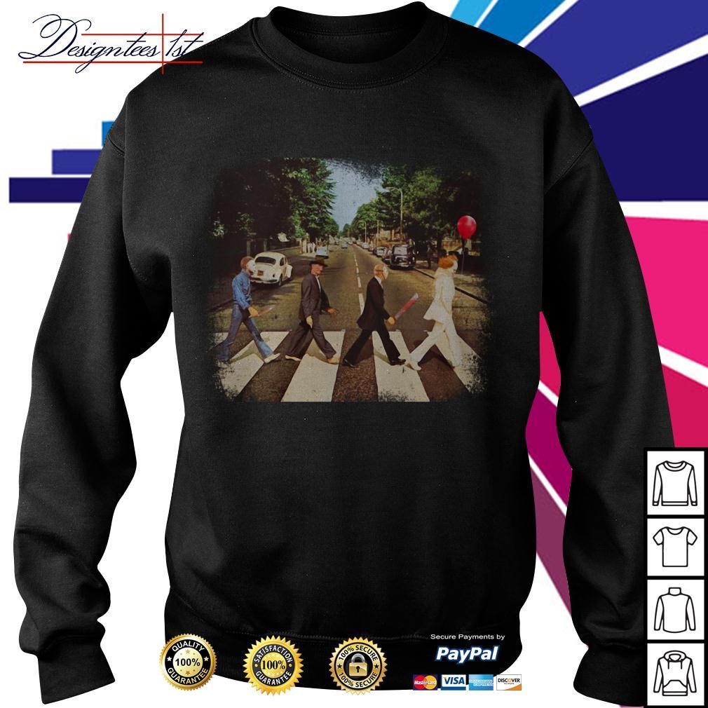 Horror movie characters walking Abbey Road Sweater