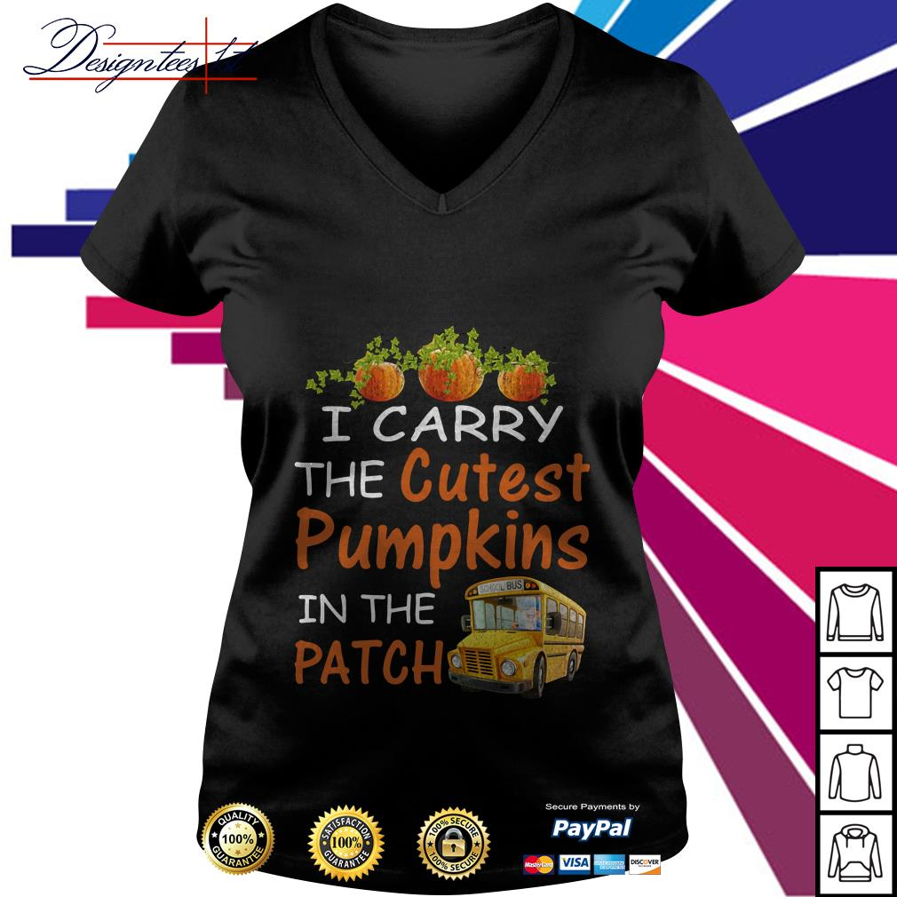 I carry the cutest pumpkin in the patch V-neck T-shirt