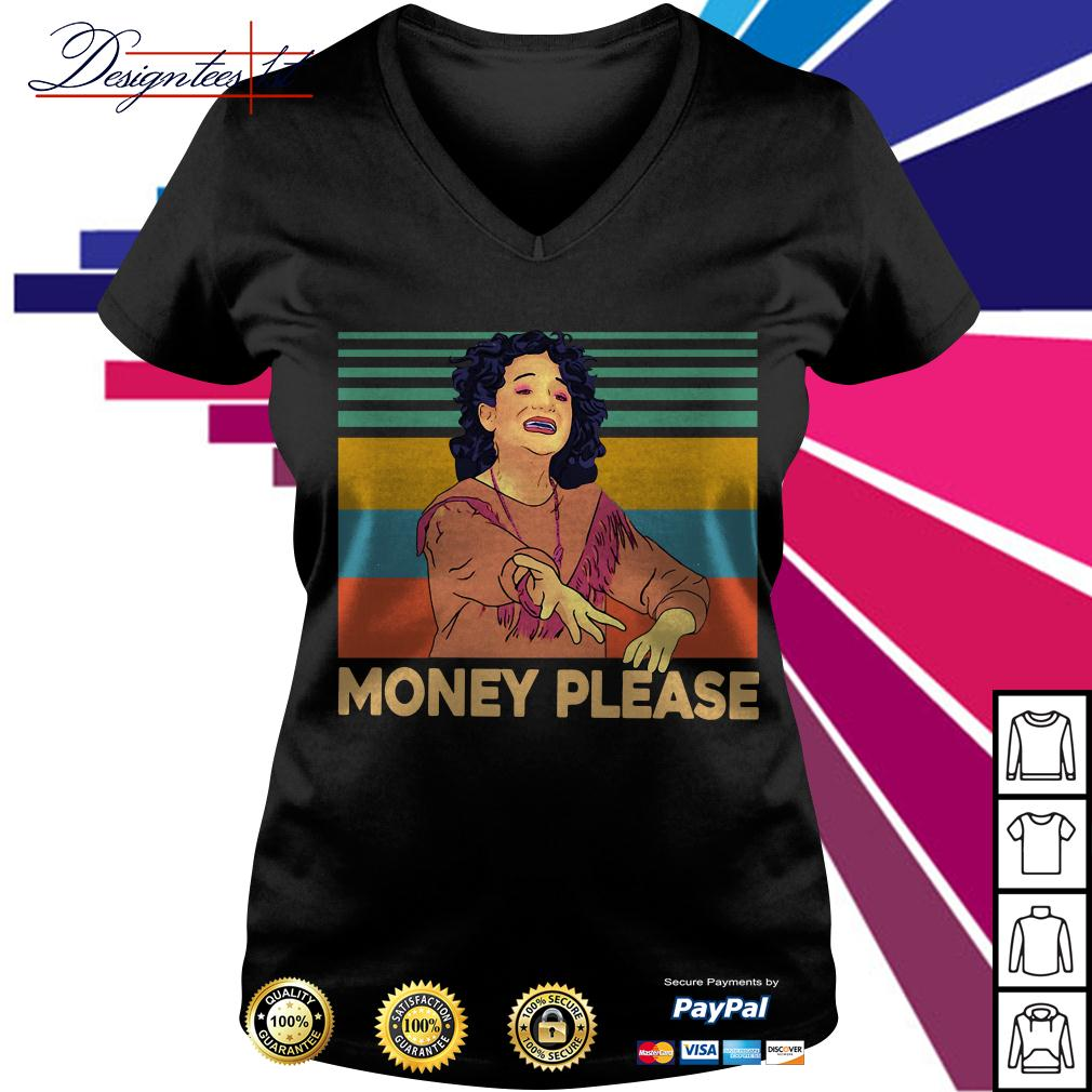 Jenny Slate money please vintage V-neck T-shirt
