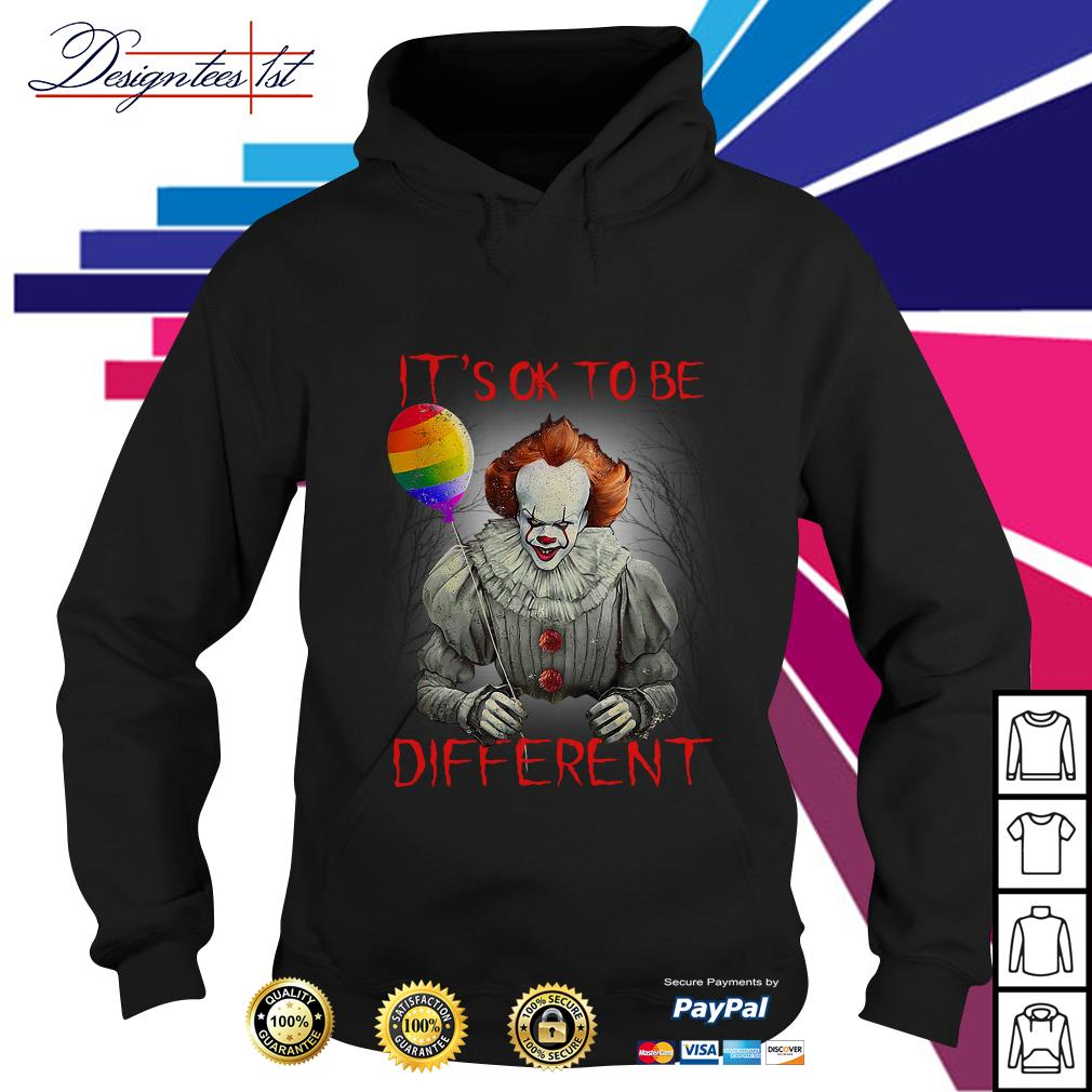 LGBT Pennywise IT's ok to be different Hoodie
