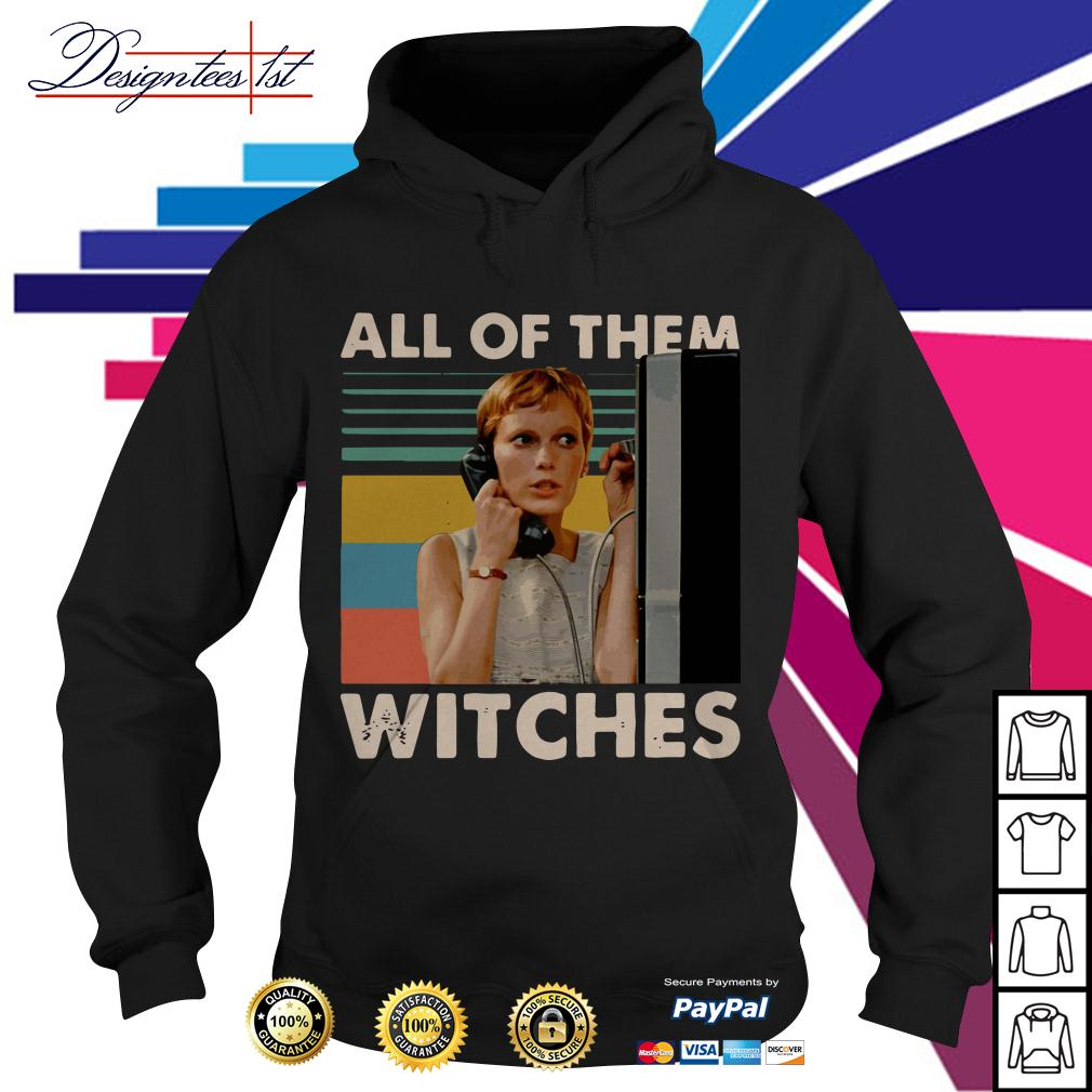 Mia Farrow in Rosemarys Baby all of them witches vintage Hoodie