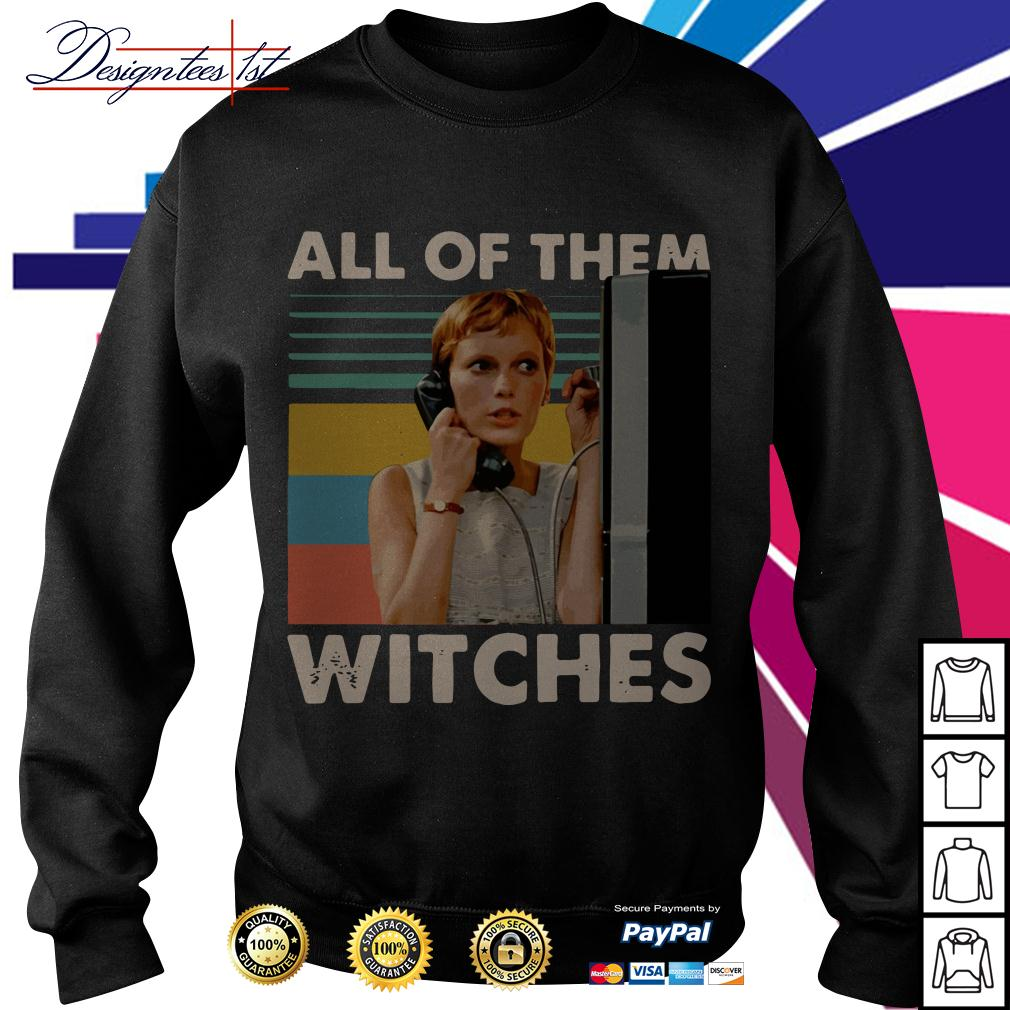 Mia Farrow in Rosemarys Baby all of them witches vintage Sweater