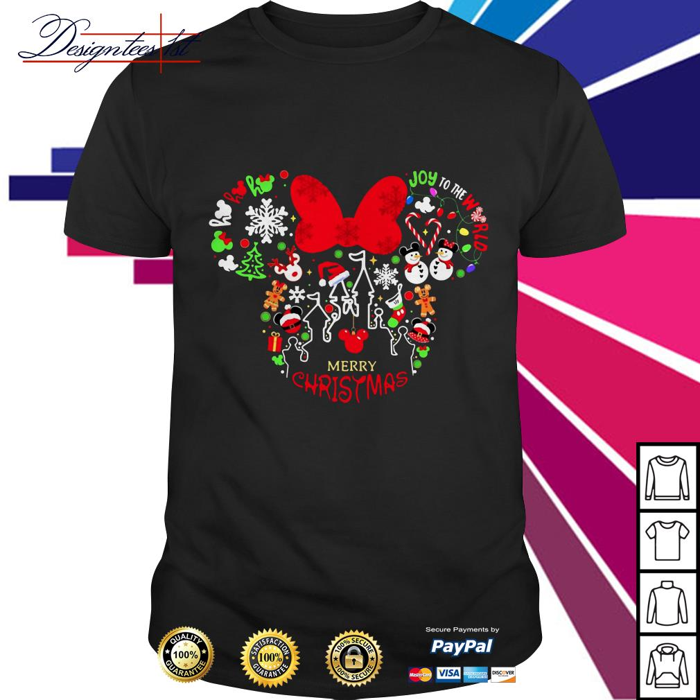 Mickey mouse joy to the world Merry Christmas shirt
