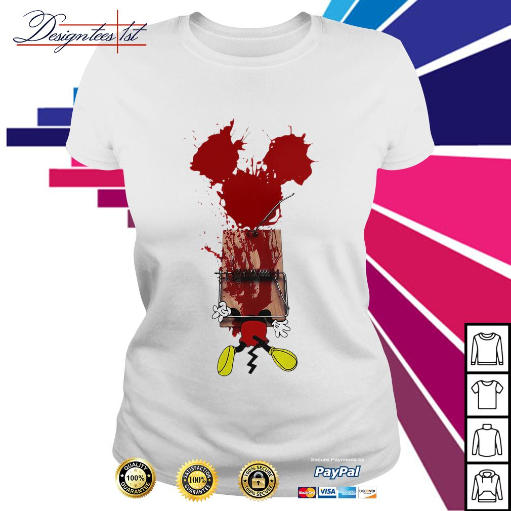 Mickey mouse trapped Ladies Tee