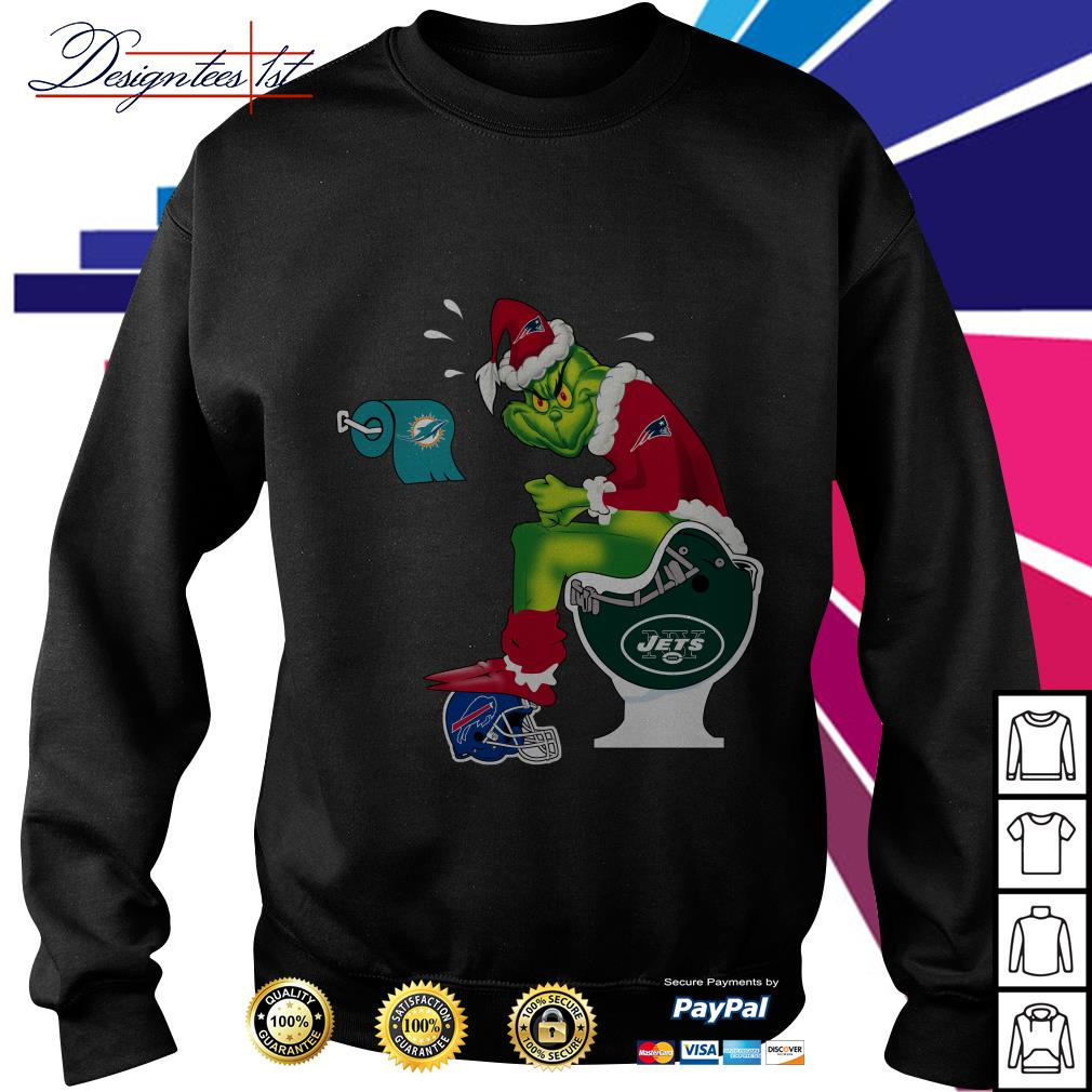 New England Patriots Grinch Santa Toilet Sweater