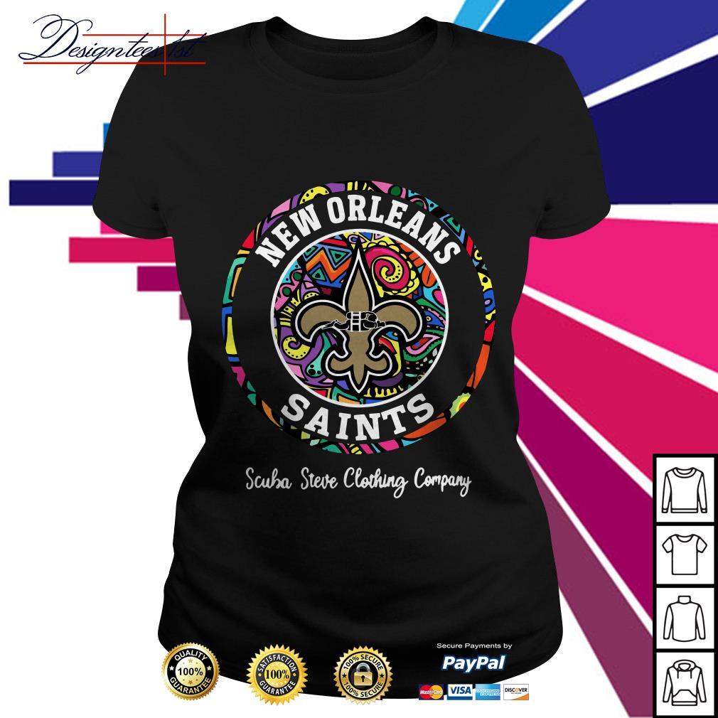 New Orleans Saints scuba steve clothing company Ladies Tee