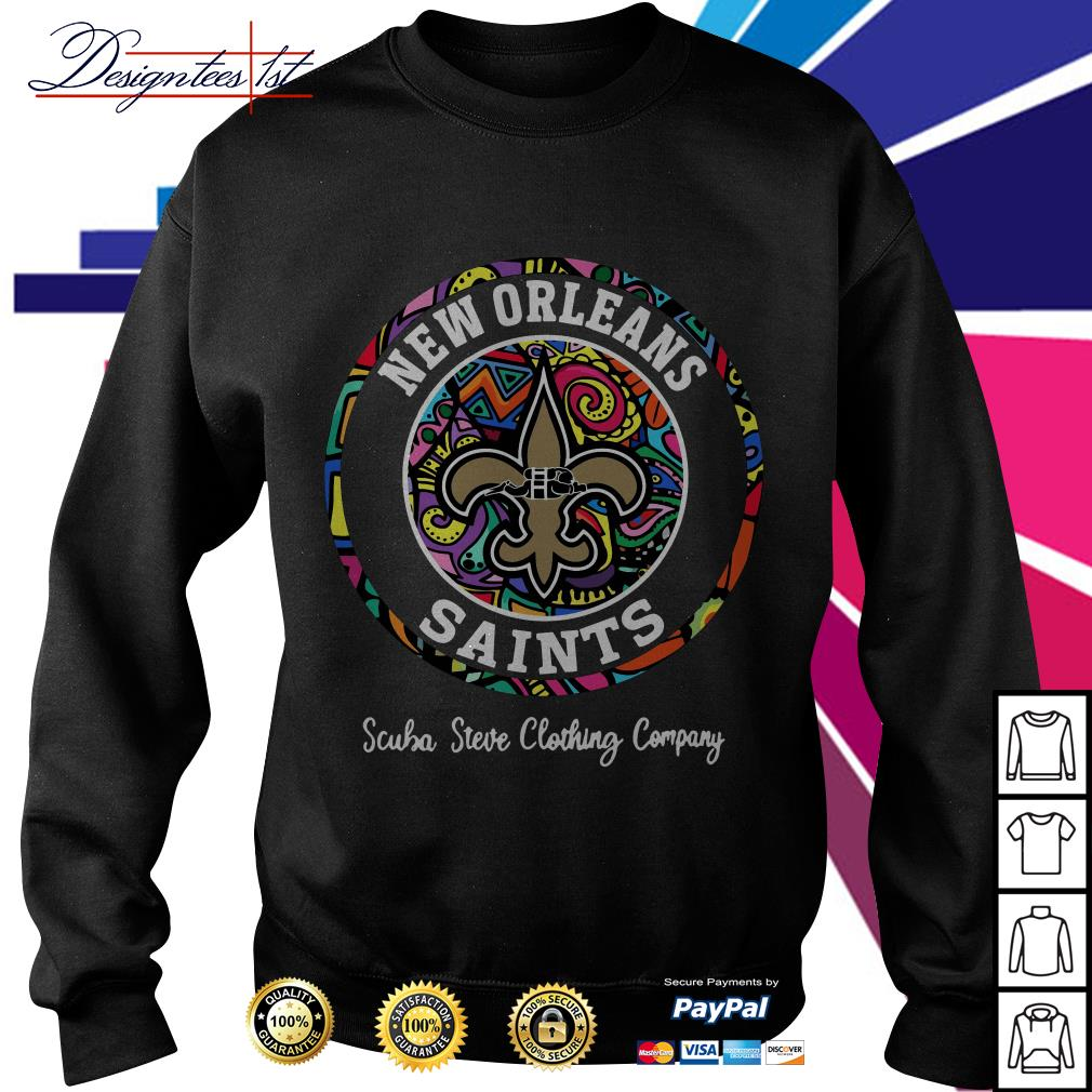 New Orleans Saints scuba steve clothing company Sweater