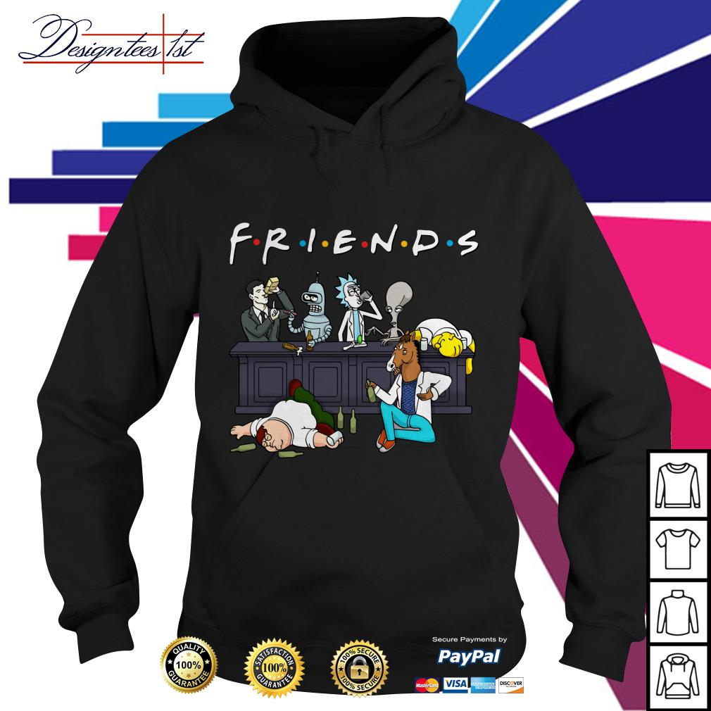 Nice Cartoon characters on Netflix Friends Hoodie