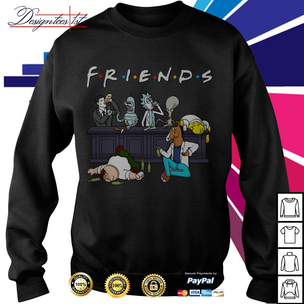 Nice Cartoon characters on Netflix Friends Sweater