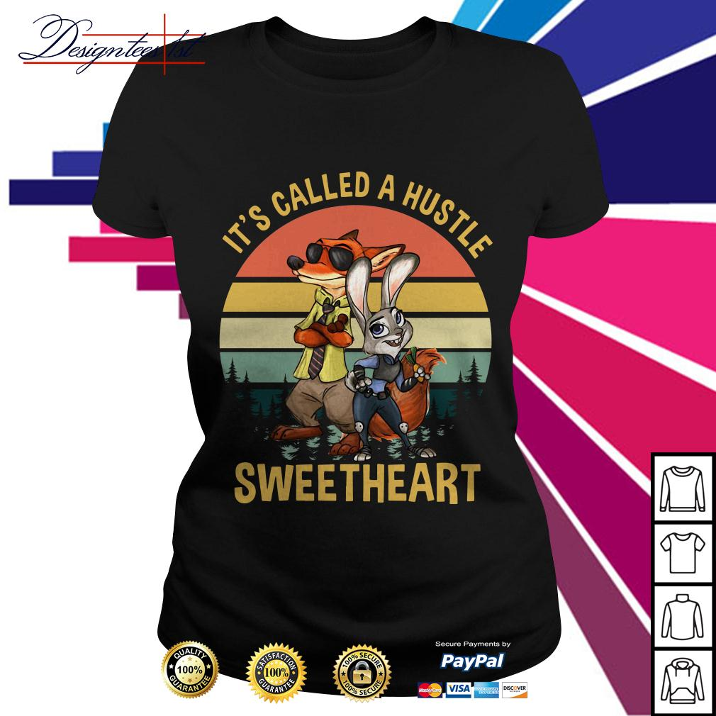 Nick and Judy it's called a hustle sweetheart vintage Ladies Tee