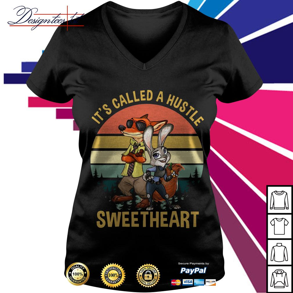 Nick and Judy it's called a hustle sweetheart vintage V-neck T-shirt