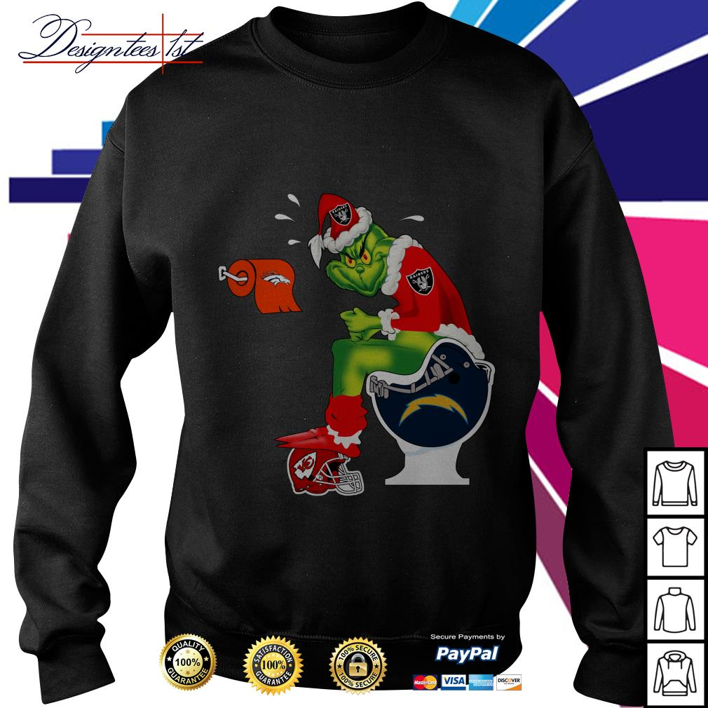 Oakland Raiders Santa Grinch toilet sweater