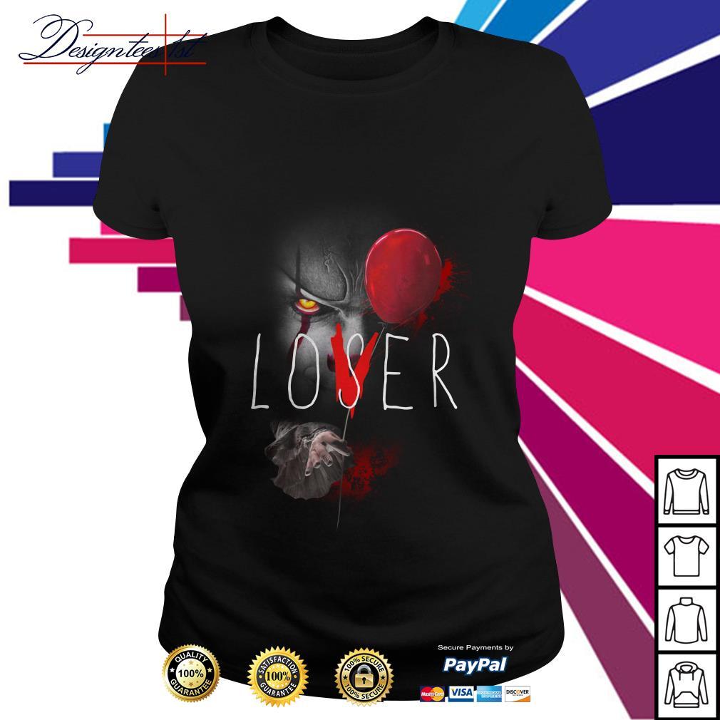 Pennywise IT lover loser Ladies Tee