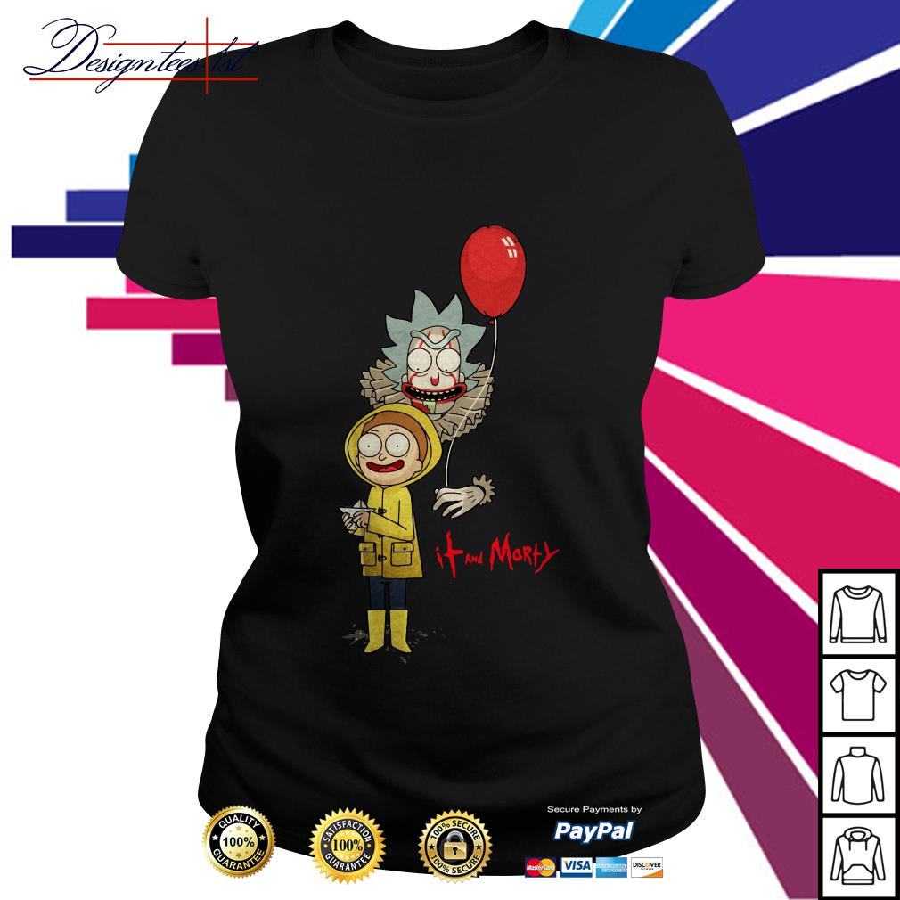 Rick and Morty - IT movie and Morty Ladies Tee