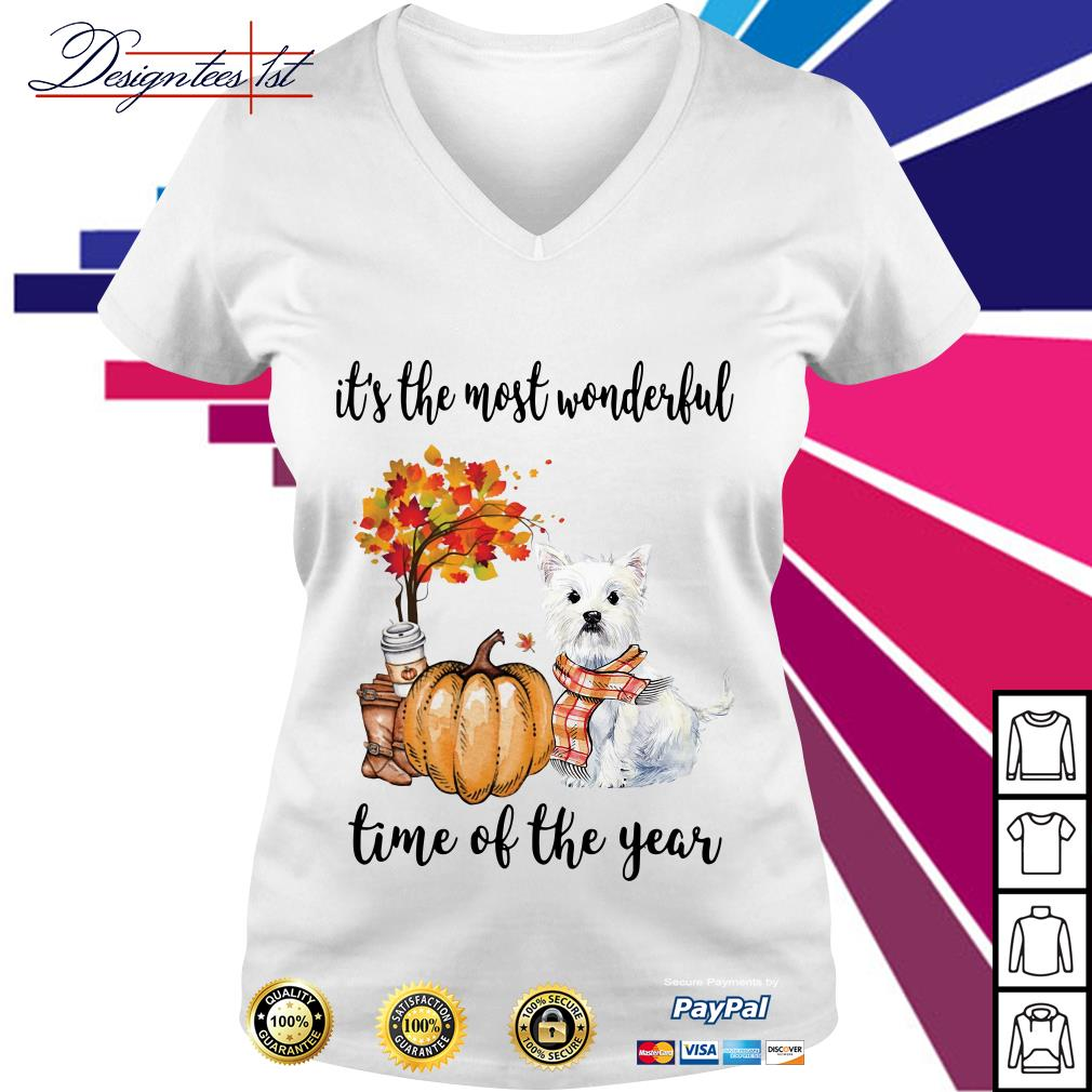 Shih Tzu it's the most wonderful time of the year V-neck T-shirt