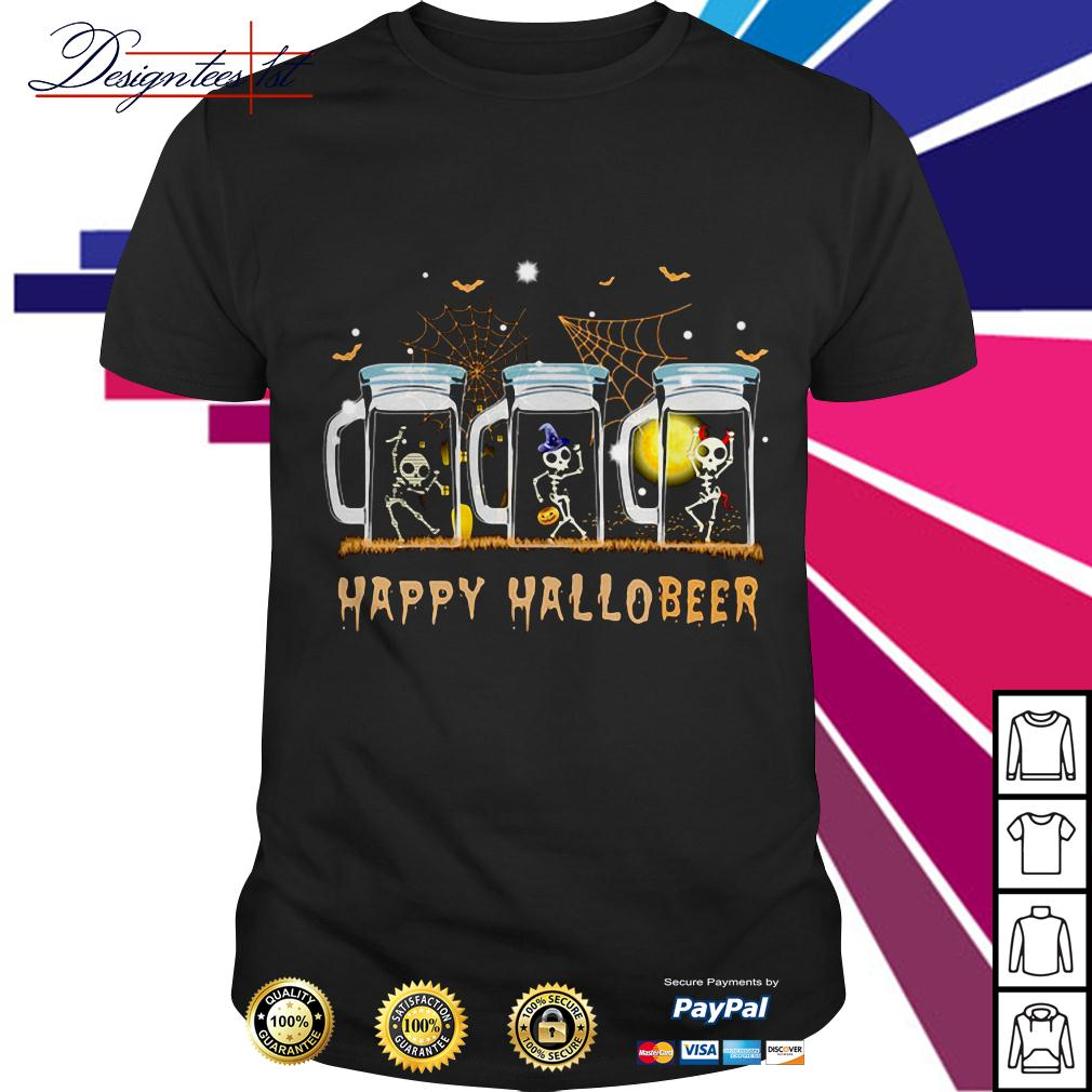 Skeleton dance happy Hallobeer shirt